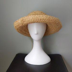 Vtg Helen Kaminski Classic 5 Raffia Straw Hat
